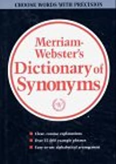 Webster's New Dictionary of Synonyms