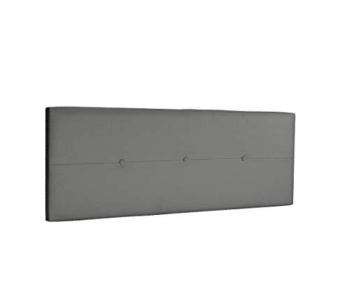 DHOME Cabecero de Polipiel o Tela AQUALINE Pro cabeceros Cabezal tapizado Cama Lujo (Polipiel Gris Ceniza, 145cm (Camas 120/135/140))