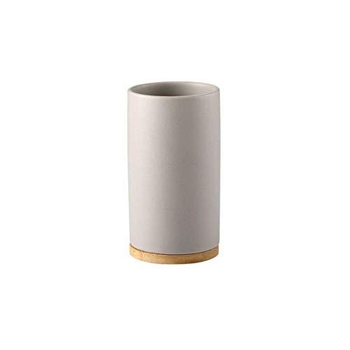 LLAAIT Creative Ceramic Bamboo Bathroom Glass Cepillo de Dientes Portavasos Baño Emulsión Contenedor Cocina Lavavajillas Contenedor líquido, 3