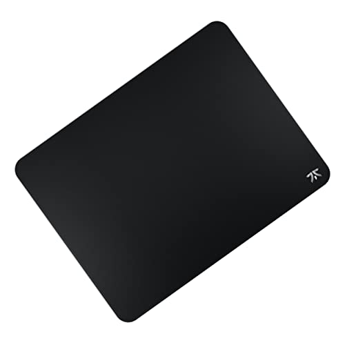 Fnatic Dash L PRO Gaming Mouse Mat for Esports with Stitched Edges And Anti-Slip Rubber Base, Fast Surface (Size L, Black, Hybrid Fabric) - 487 x 372 x 3mm