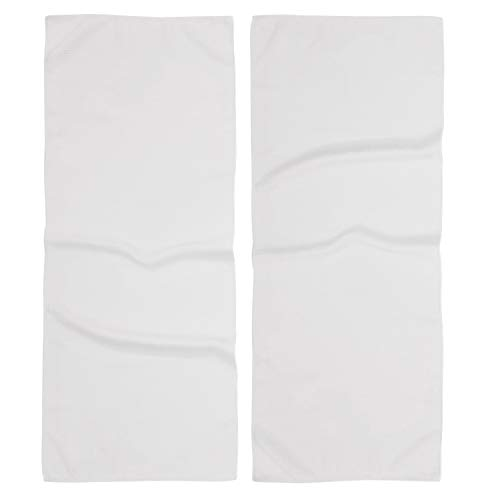 2 Pack White Golf Towels 40 x 16 inch Large Microfiber Waffle Pattern Players (6 Variations) Caddy Towel, Blank, Lightweight, for Men or Women