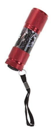 Lampe torche LED en aluminium pour enfants 3 ans et + Thèmes Cars 3, Star Wars, Spiderman, rouge