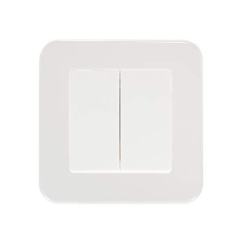 LEDKIA LIGHTING Interruptor Doble Conmutado Classic Blanco
