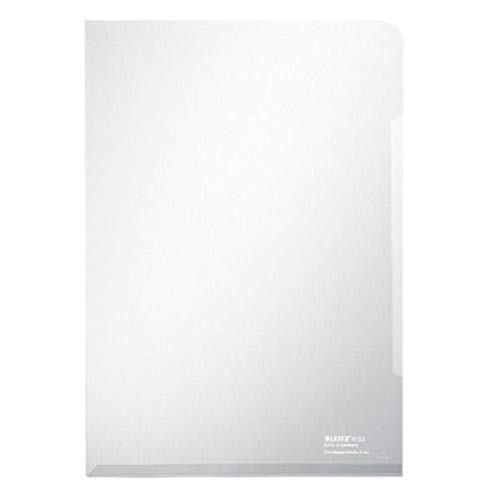 Leitz Premium Folder, Pack of 100, Holds up to 40 A4 Sheets, Transparent, 150 Micron PVC Material, 41530003