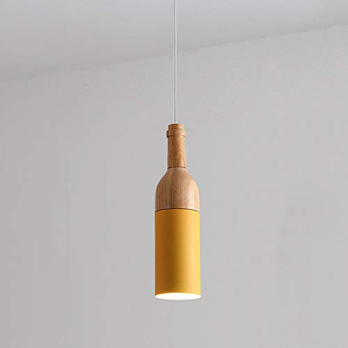 Houten hanglamp, eetkamer plafondlamp thee kamer Bartheke Cafe-hanglamp slaapkamer bedlampje gang vitrine