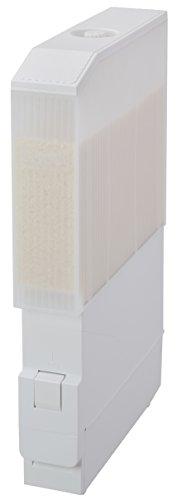 [エムケー精工]米びつ米容量6kg幅10cm(スリム)ワンタッチ軽量機能付き(残量が一目で分かる)スリムエースホワイトRC-12SW完成品