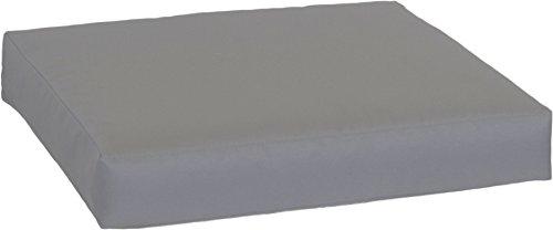 Beo LKP 70x70PY202 Loungekissen Sofakissen Palettenkissen mit Reissverschluss und wasserabweisendem Stoff, anthrazit, 70 x 70 cm