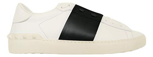 Valentino Garavani Sneakers Scarpe Uomo VY2S0830-A01 Bianco-Nero (Numeric_44)