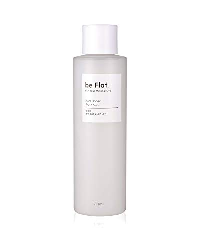 be Flat Pure Toner for 7 Skin 71oz 210ml Korean Beauty and Facial Skin Care Cica Extract Anti Aging Anti Wrinkle Korean Best Selling Cosmetic For Your Minimal Life
