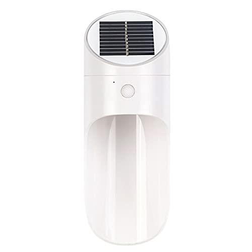 GOUER Lámpara LED solar de pared para inducción del cuerpo humano, resistente al agua, adecuada para la decoración de paredes exteriores de casas, patios, caminos, camas de flores, 6500 K