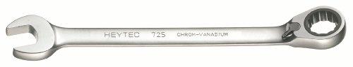 Heytec 50725024080 Clé mixte à cliquet réversible Argent, 24 mm