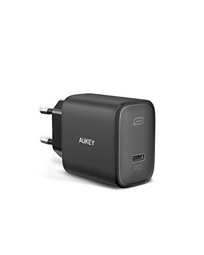 AUKEY Caricatore USB C 20W per iPhone 12, caricatore rapido con Power Delivery 3.0, alimentatore USB C per iPhone 11/11 Mini / 11 Pro, iPad Pro Air Mini, AirPods, Samsung, Huawei, Switch (nero-1)