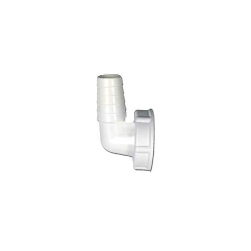 DL-pro Schlauchanschluss für 1 1/4 Zoll Siphon für Ablaufschlauch Ø 20-24mm Waschmaschine Spülmaschine