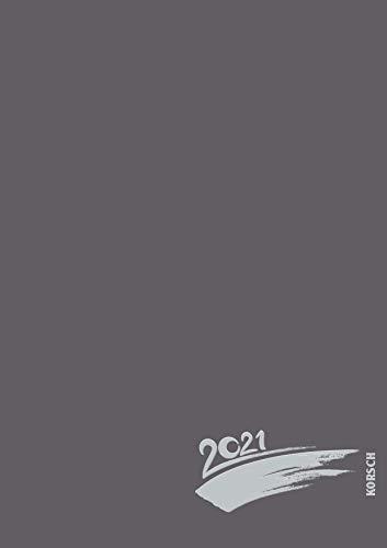 Foto-Malen-Basteln A4 anthrazit mit Folienprägung 2021: Fotokalender zum Selbstgestalten. Do-it-yourself Kalender mit festem Fotokarton und edler Folienprägung.