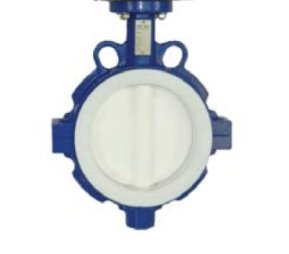 "3"" Max-Seal Butterfly Valve Wafer Ductile Iron Body 316SS PTFE Encapsulated Disc PTFE Seat Lever by Max-Seal"