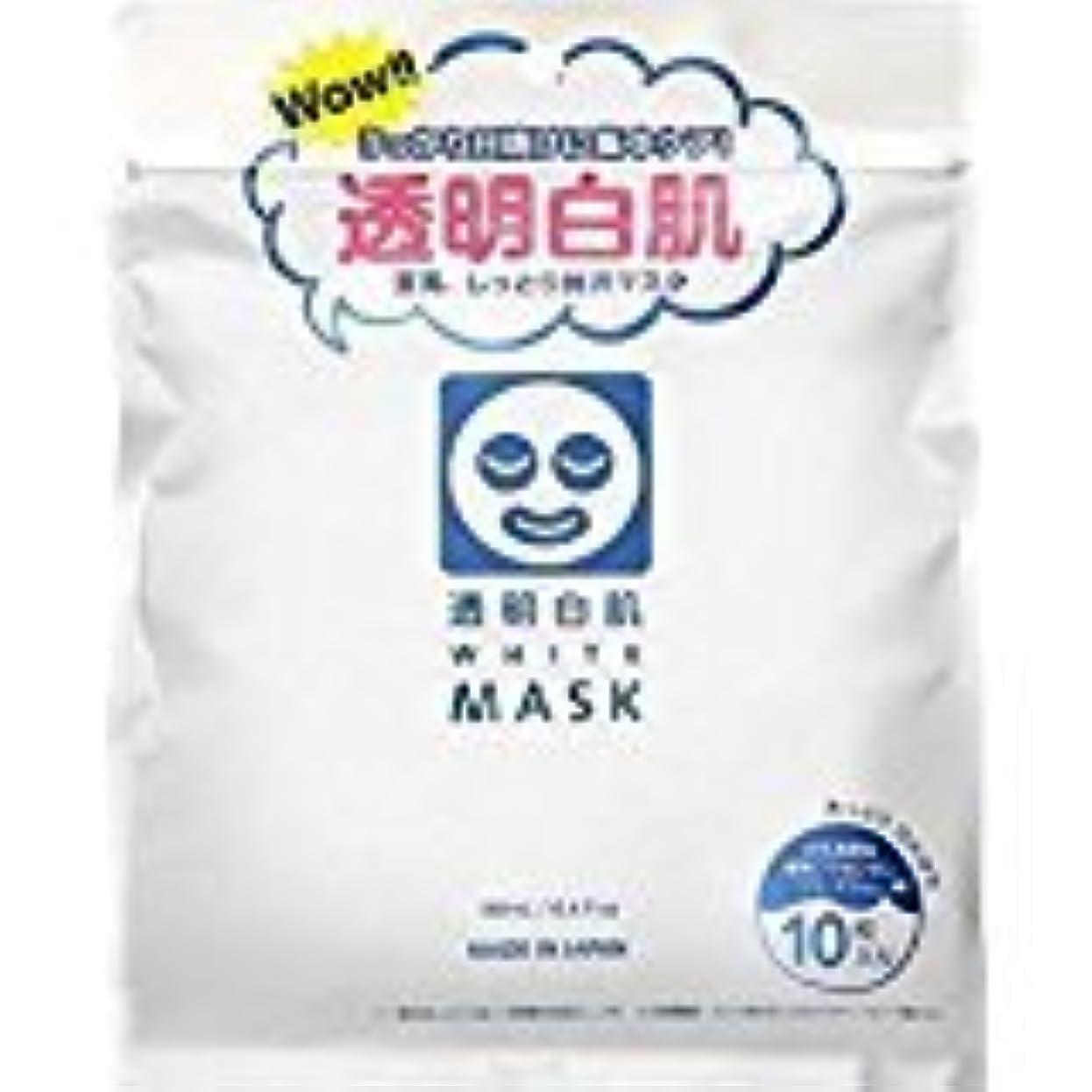 公平なたとえマニフェスト石澤研究所]透明白肌 ホワイトマスク N10枚入 (48枚セット)