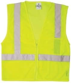 Kishigo Max 83% OFF 1089 Zipper Front 1-Pocket Safety Lime L - Vest Yellow New mail order