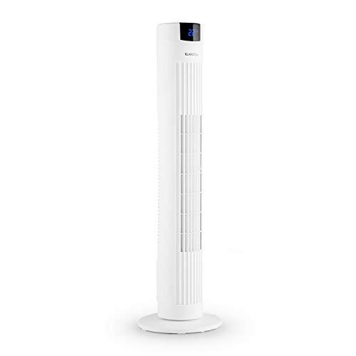 Klarstein Skyscraper 2G - Säulenventilator 40W Luftdurchsatz 820 m³/h Oszillation, Fernbedienung Timer, 3 Geschwindigkeitsstufe, Touch-Bedienfeld, leise, platzsparendes Turm-Design, elfenbein