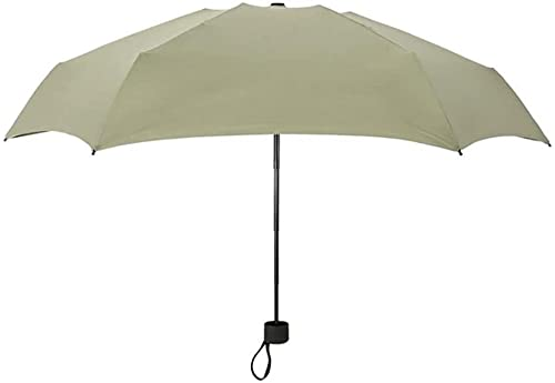 XMYNB paraguas Triple Parasol Travel Portable Mini Pocket Paraguas, Vino Tinto