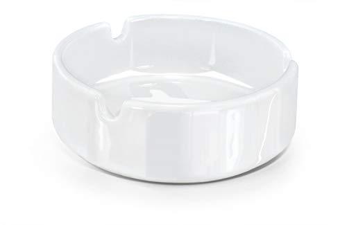Aschenbecher aus Porzellan Weiß 10 cm Durchm. - 1 Stück