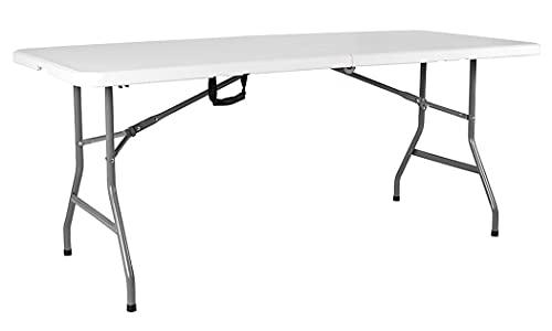 Amazon Basics Tavolo pieghevole da picnic per carichi pesanti in argento, 5 piedi