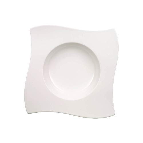 Villeroy & Boch NewWave Assiette à soupe, Porcelaine Premium, Blanc