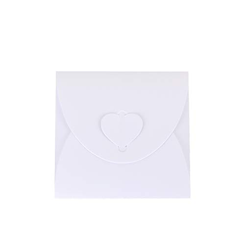 Wolfteeth 50 pz Custodia CD Jewel Case Porta Dvd Base Bustina Busta in Carta per Matrimonio Laurea Compleanno Bianco