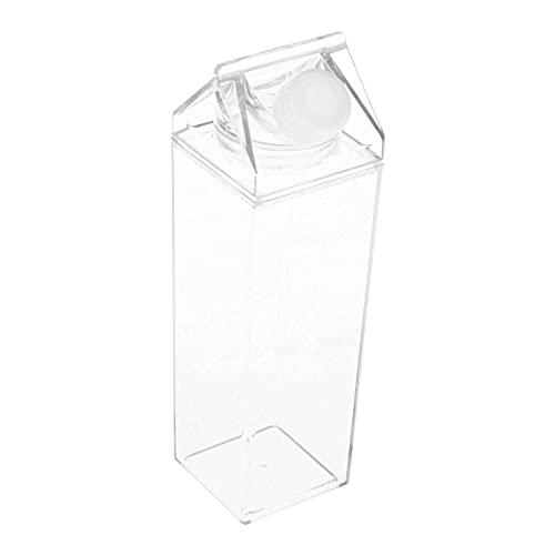 Generic Bottiglie Quadrate Trasparenti per Il Latte Bottiglie per Succhi per Campeggio, Sport - B
