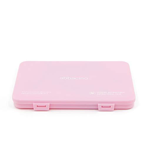 Abbacino Caja estuche para guardar la mascarilla rectangular de plástico rosa