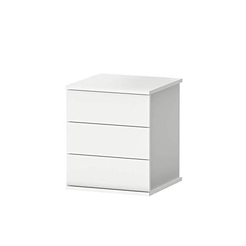 Muebles Pitarch Elsa Mesita, Aglomerado de partículas y melanina de Alta Densidad, Blanco, 48.5 x 41 x 40 cm