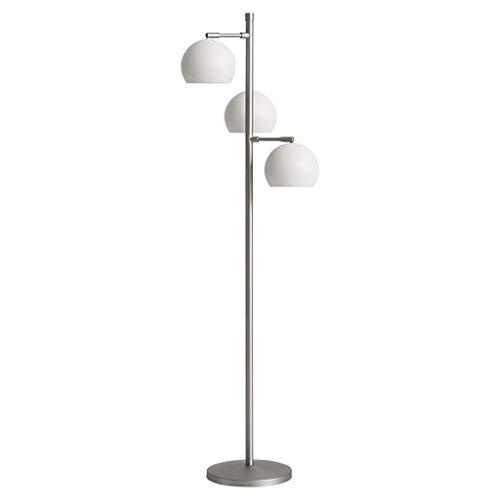 Nordic Post-Modern Ins Simple lámpara de pie, Oficina, Sala de Estar, Dormitorio, decoración, Bola, Multi-Cabeza, lámpara de pie (Color : Blanco)