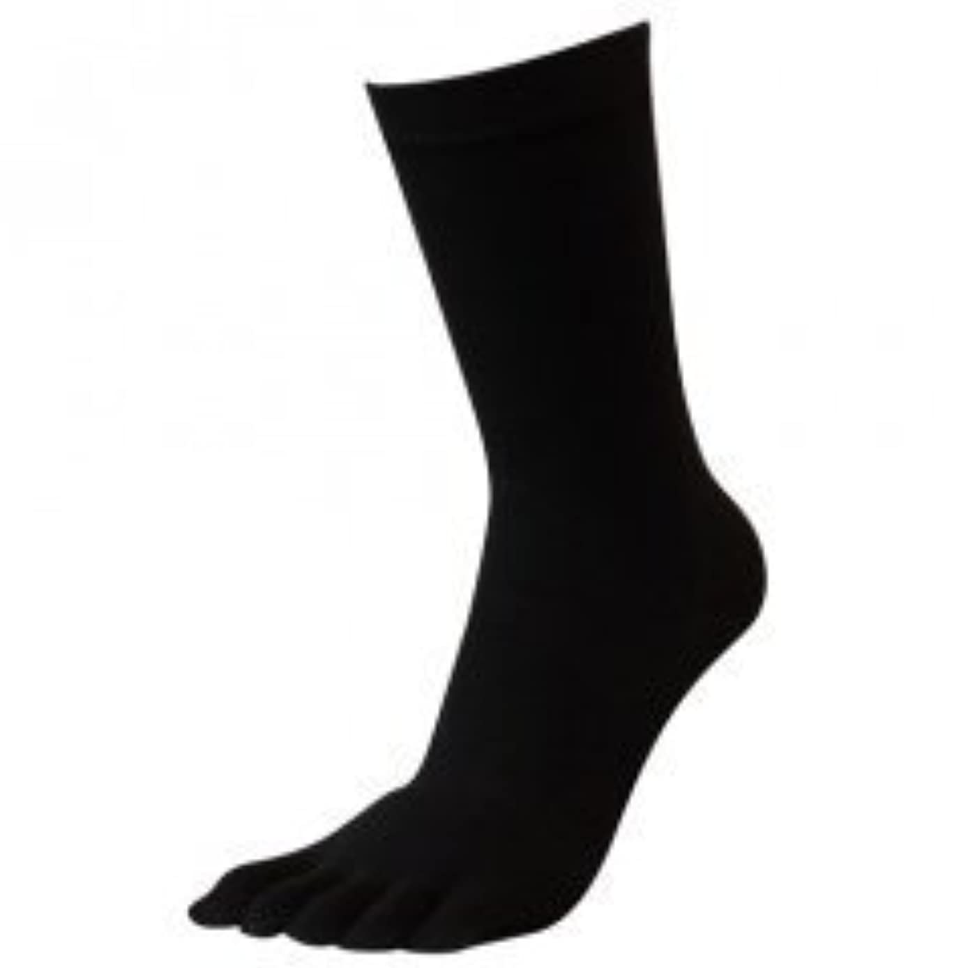 カリキュラム宣教師とてもブリーズブロンズ 5本指ソックス【黒】 急速分解消臭 匂わない消臭靴下 (22~24㎝)