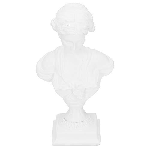 Estátua, estátua de resina, estantes de mão de obra requintada, janela para prateleiras de mesa(BS-1023 white trumpet)