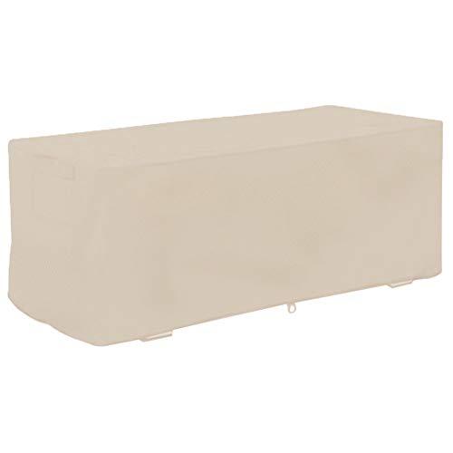 Aiggend Deck-Box-Abdeckung, 123 * 62 * 55CM Oxford-Stoff 210D Garden Courtyard Outdoor wasserdichte Aufbewahrungsbox-Abdeckung (Farbe : Beige)