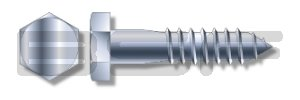1 Quality Max 74% OFF inspection 2X9 Hex Lag Point Zinc Screw Gimlet