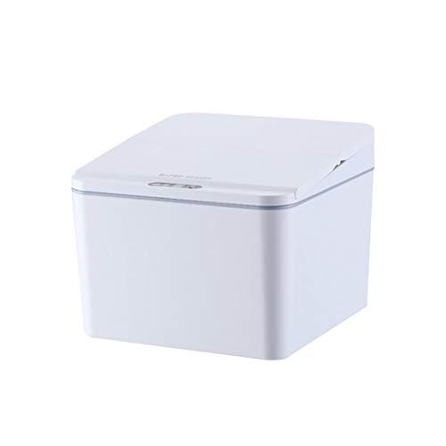 Desktop-Sensor Trash Can USB Neuladen Automatische Mini Papierkorb mit Deckel für Schreibtisch und Fahrzeug-4L