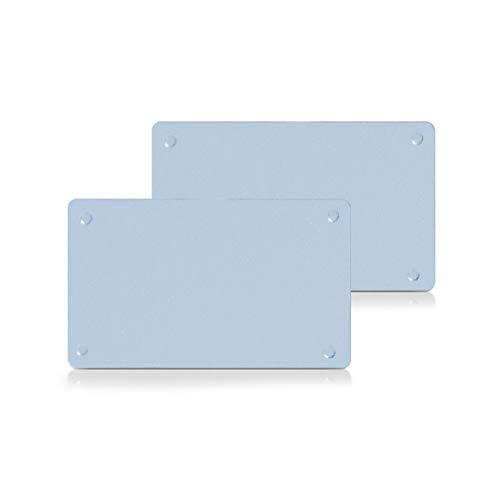 Zeller 26204 - Juego de tablas de cortar de cristal, 2 unidades, 25 x 15 x 0,5 centímetros
