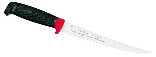Marttiini Erwachsene Finnisches Filetiermesser, Klinge 19 cm, Kautschuk-Griff, Lederscheide Anglermesser, Mehrfarbig, One Size