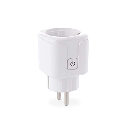 Goliath WLAN stopcontact, enkele stekker met schakelaar, app-bediening, smart home-stekker, wit