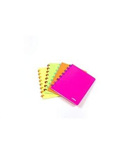 ATOMA Notizbuch A5liniert Fluorescent (Farben zufällig)–Notizbücher