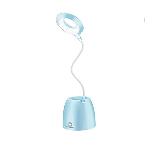 LLDE Lámpara de escritorio LED mesa táctil lámpara moderna dormitorio estudio estudio estudio estudio estudio lámpara de escritorio soporte lápiz ojo ajustable lámpara de mesa creativa luz nocturna
