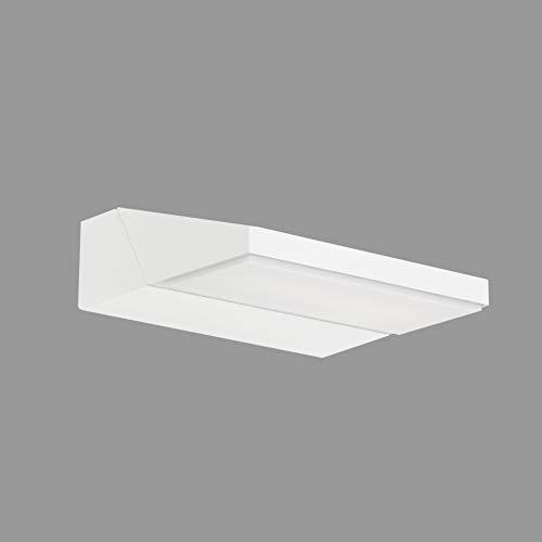 Telefunken - LED Außenwandleuchte, Außenwandlampe, Kopf drehbar, 10 Watt, 1.100 Lumen, 4.000 Kelvin, IP44, Weiß, 172x141x52mm (LxBxH)