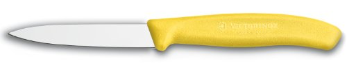 Victorinox 3.25 Inch Swiss Classic Paring Knife with Straight Edge, Spear Point, Yellow