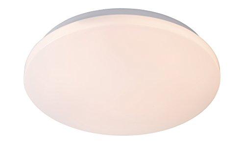 Lucide 79199/14/61 Otis Plafonnier, Texture, LED intégré, 14 W, Opalin, 26 x 26 x 5,8 cm
