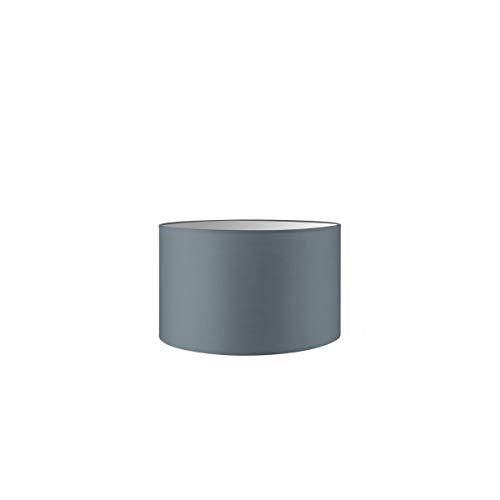 Lampenschirm rund | Bling | Stofflampenschirm | Textilschirm | Baumwolleschirm | Für E27 Fassung | Durchmesser 35cm Höhe 21cm | Hell Grau | Für alle Innenraumen IP20 | Ohne Leuchtmittel