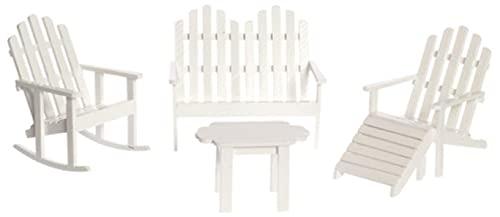 Town Square Miniatures Blanco Adirondack Muebles Casa de Muñecas Miniatura Juego