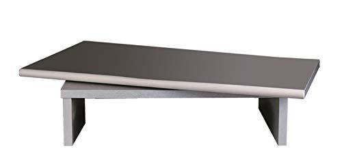Tecnidea Supporto TV Video Girevole con vano decoder Colore Silver VTG56 Adatto Anche a pc