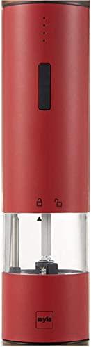 Molinillo de pimienta eléctrico, molinillo de sal y pimienta recargable por USB,...
