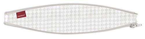 bellybutton by manduca ZipIn Ellipse  SoftCheck Sand Reißverschluss-Einsatz für die manduca Babytrage/Bauchtrage, optimiert für Neugeborene und kleine Babys, beige mit weißem Karomuster