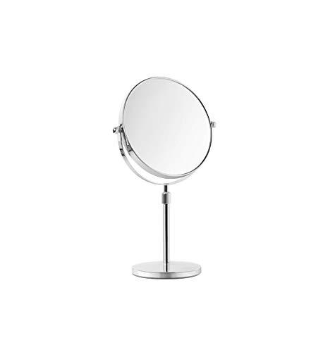 C-J-Xin Réglable double face Miroir, maquillage ronde de levage en métal Miroir Boy Miroir grossissant 360 ° Rotation libre avec la base Miroir de maquillage (Size : 23 * 38CM)